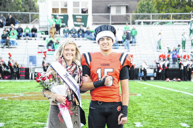 The 2019 Versailles homecoming queen and king are Olivia Waymire and Hunter Trump. Waymire is the daughter of Don and Michele Waymire and Trump is the son of Brian and Kelly Trump.