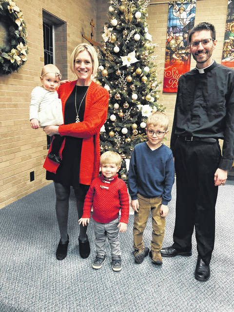 The Weirauch family is getting ready for the 2019 Christmas season. Pictured are, left to right, Joanna, 2, Kaci, Kaleb, 3, Samuel, 8, and David Weirauch.