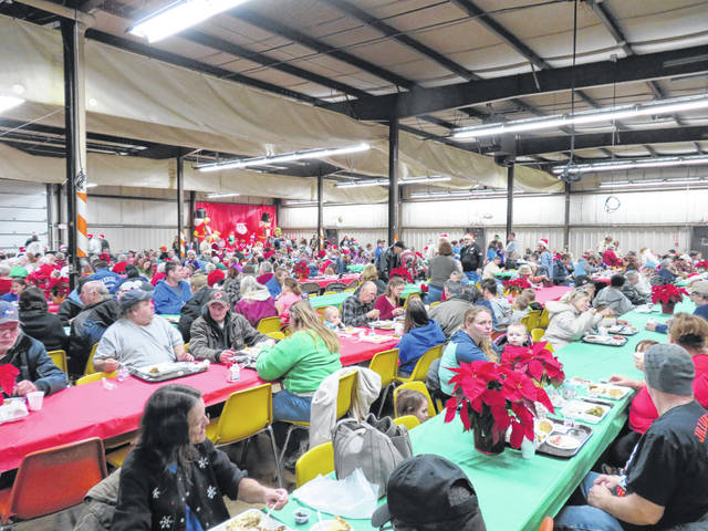 Guests enjoy their holiday meal at the 2018 Community Christmas Dinner. this year's dinner will be held Saturday, Dec. 14.