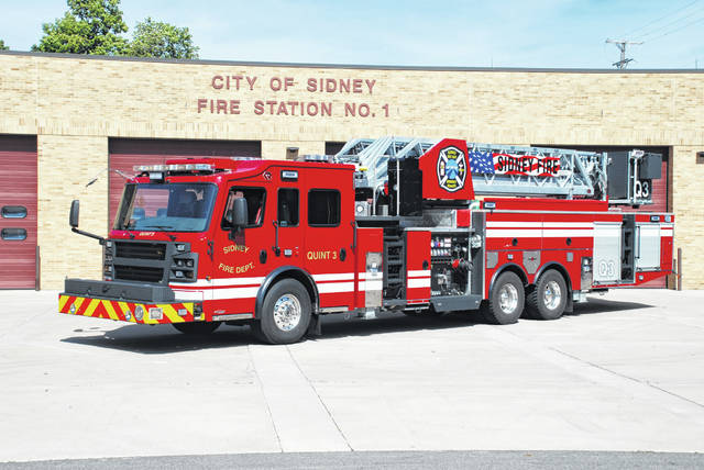 Pictured is Sidney Fire Department's new Rosenbauer Quint 3 that will go into service Tuesday, Nov. 5