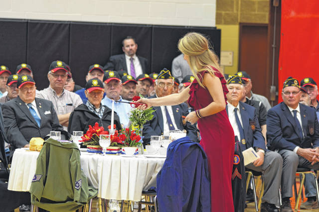 A White Table Ceremony was held as part of the Veterans Day program at Fort Loramie Schools Monday, Nov. 11.