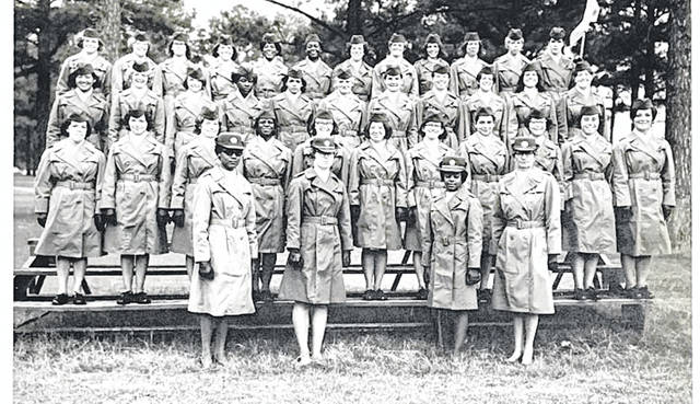 Retired U.S. Army Veteran MSgt. Judy Johnson, of Sidney, pictured seven from the left in the second row from the top, with her basic training graduating class in 1970.