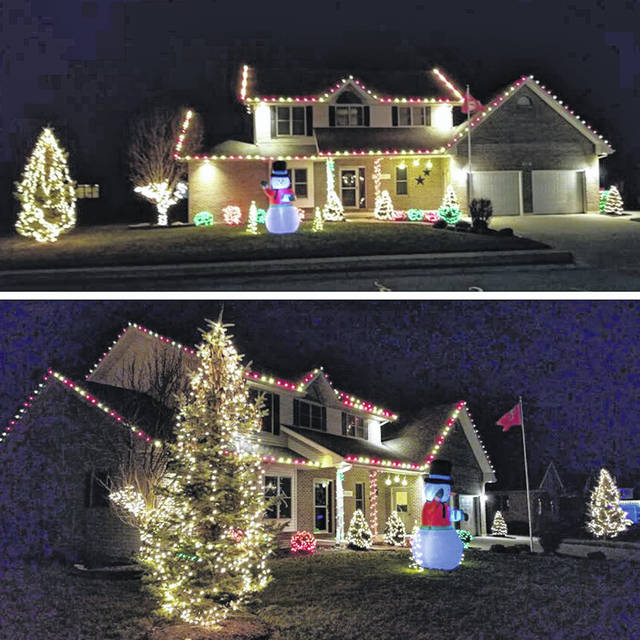 Ben and Jenni Miller, of St. Henry, won Midwest Electric's Griswold Christmas Lights Contest.