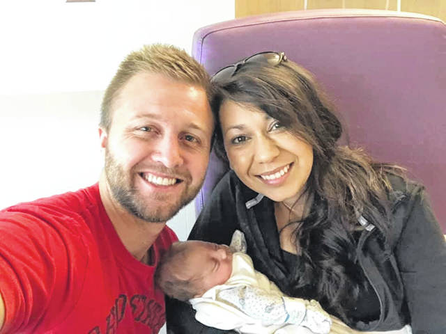 Tyler and Vanessa Martin are happy their son, Jayden, has been released from a five-month stay at Children's Hospital. He was born premature and weighed 1 pound 9 1/2 ounces and was 12 inches long at birth. They're looking forward to watching him grow.