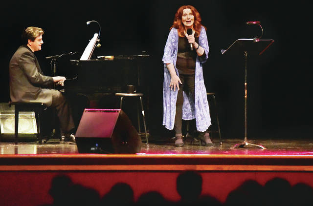 Maureen McGovern performs a Christmas concert at Sidney High School to a packed auditorium on Sunday, Dec. 1. McGovern was brought to Sidney by the Gateway Arts Council with help from donors.
