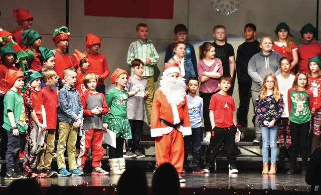 Alex Ginn, of Houston, son of Michael and Emily Ginn, plays Santa in the Hardin-Houston third and fourth grade presentation of Santa.Claus on Thursday, Dec. 12. The students were directed by Samantha Stephens.