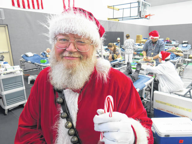 Santa will be visiting the Sacred Heart Church blood drive on Dec. 17.