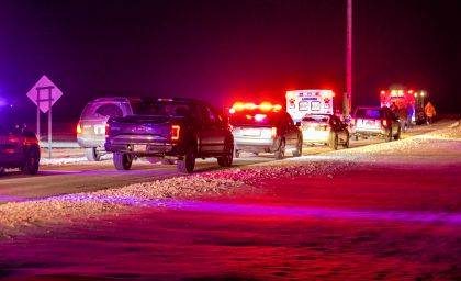 Rescue crew responded to the scene of a crash involving a snowmobile on Tuesday evening near Ansonia. The driver of the snowmobile, Jonathan Gehret, 18, of Versailles, was pronounced dead at the scene.