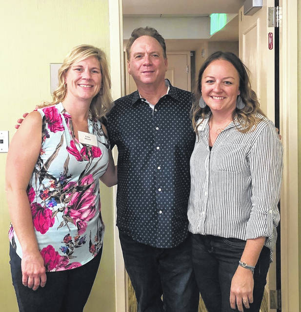 State of the Heart Care Social Services Manager Erin Meyer, left, and Bereavement Specialist Sarah Depoy, right, pose for a photo with grief counselor, author and educator Alan Wolfelt at the Comprehensive Bereavement Skills Training in Scottsdale, Arizona.