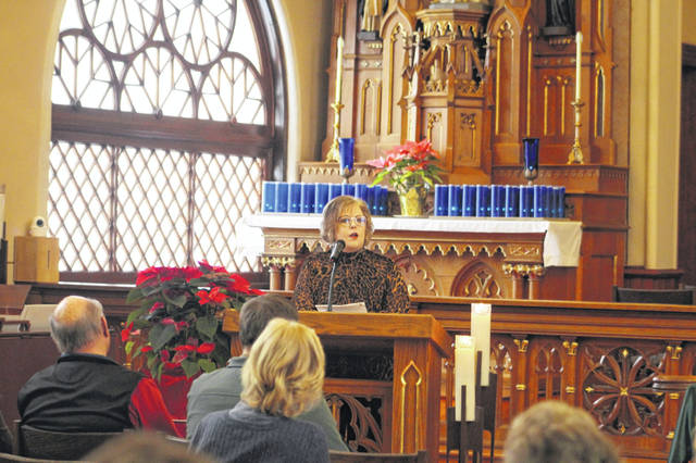 Kim Rosenbeck-Rose, LPCC, of Momentum Counseling in Celina, was the guest speaker at the prayer service for the help of Saint Dymphna, the patron saint of those suffering from neurological and mental health conditions at the Maria Stein Shrine.