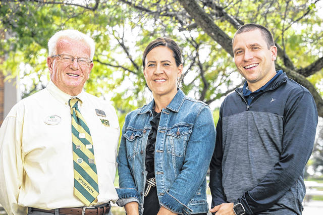 Kip Wright, left to right, Lake Campus conduct officer, and probation officers Jennifer Contraras and Craig Kremer collaborate on the Ripple Project.