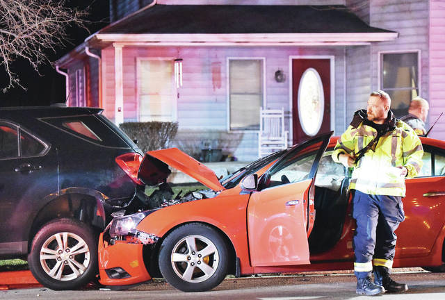 A car crashed into a parked vehicle at 9:27 p.m. in the 70 block of South Main Street in Fort Loramie on Tuesday, Jan. 28. No one was in the parked vehicle. The driver was the only occupant of the car. The driver was not injured in the crash. The Fort Loramie Fire Department, Rescue and Police responded to the crash.