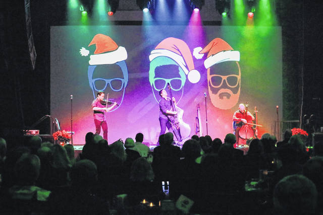 Simply Three performs in front of an audience of more than 240 at The Edison Foundation's 22nd annual Holiday Evening at Edison State.
