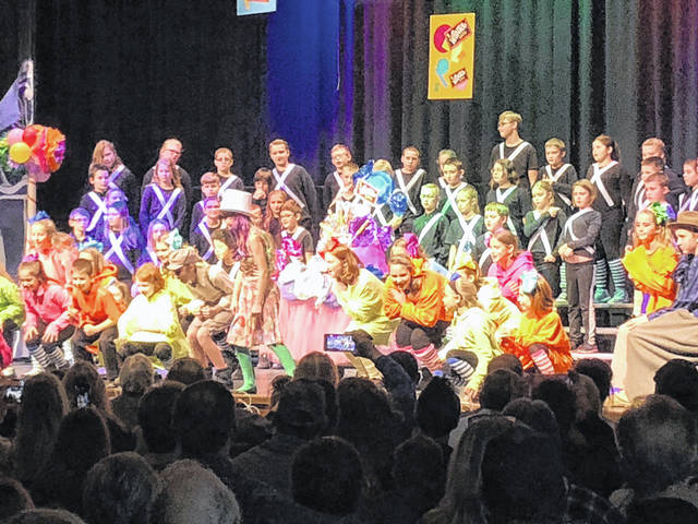 """Fairlawn's fourth- and fifth-graders performed the musical """"Willy Wonka & the Chocolate Factory"""" recently."""