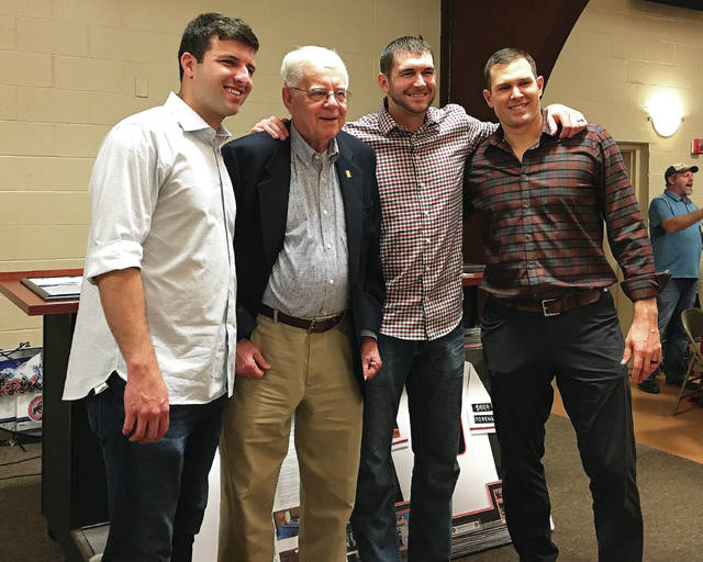 Fort Loramie's fundraiser included an interview lineup of David Hale, Bucky Albers, Jared Hoying, and Craig Stammen.
