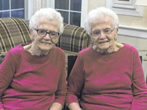 Identical twins celebrate 90 years