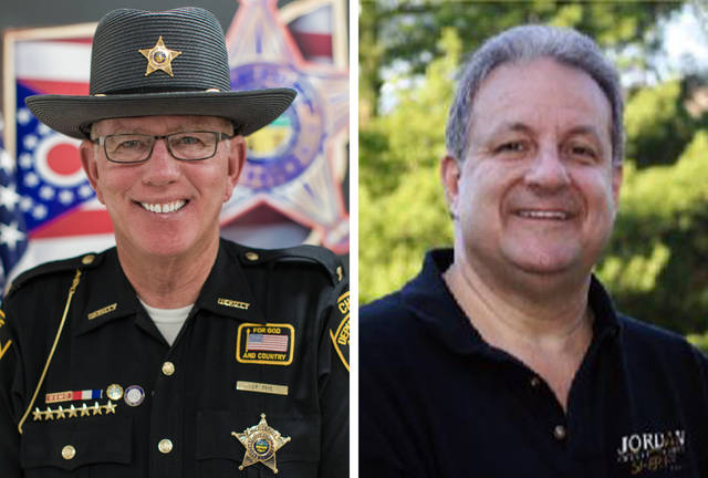 James R. Frye, left, and Mark Jordan, right, are seeking the Republican nomination for Shelby County sheriff in the March 17 primary election.