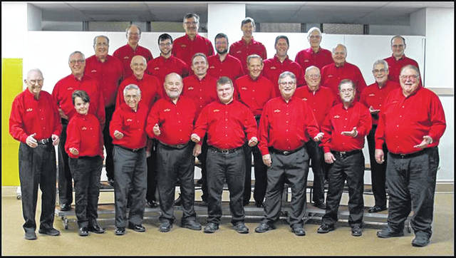 "The Melody Men Chorus will e ""Singing Valentines"" for the upcoming holiday."