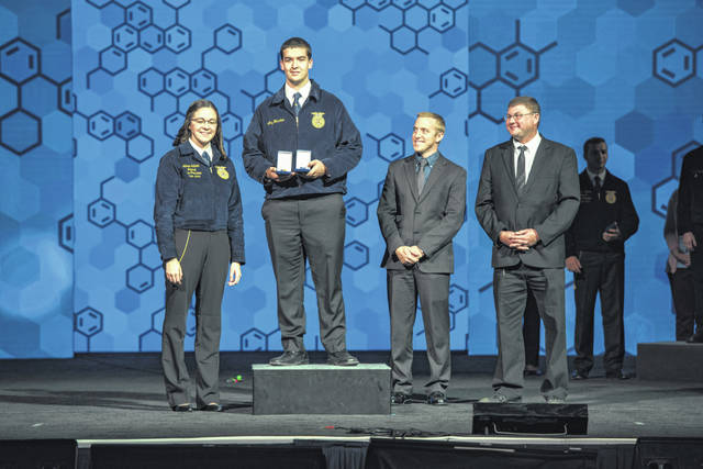 Andy Holscher was the State of Ohio and National Proficiency Winner for Agricultural Mechanics Repair and Maintenance.