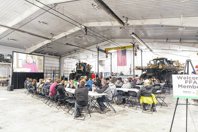 Local juniors and seniors attended a FFA Career Day hosted at Sunrise Cooperative Inc.at its Unipolis site.