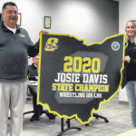 Sidney BOE presents Davis with banner