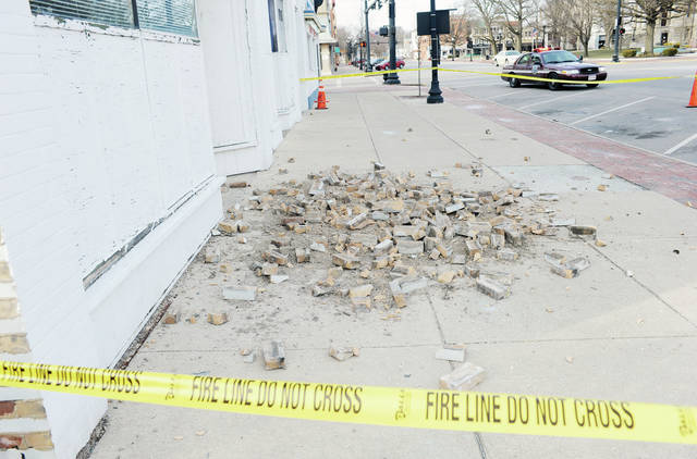 No one was injured by the falling bricks.