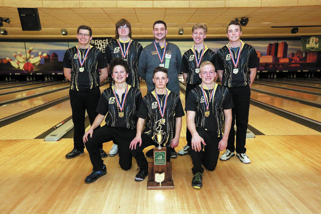 Sidney's boys bowling team won the school's first team state championship on Friday evening at Wayne Webb's Columbus Bowl. The Yellow Jackets beat Centerville 3-0 in the championship Baker match to secure the Division I state title. Sidney was one of 16 teams that qualified for state. The top eight teams in Friday's qualifying rounds advanced to head-to-head matchplay. Sidney finished third in qualifying rounds and beat Berea-Midpark 3-0 in a first-round match and then followed with a 3-0 in over Mentor in a semifinal before beating Centerville.