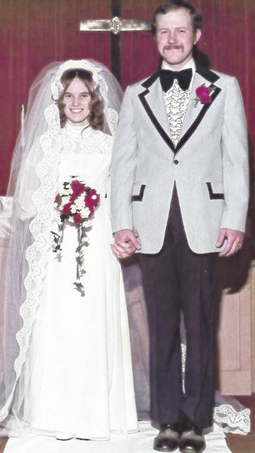 Wedding day, 1975