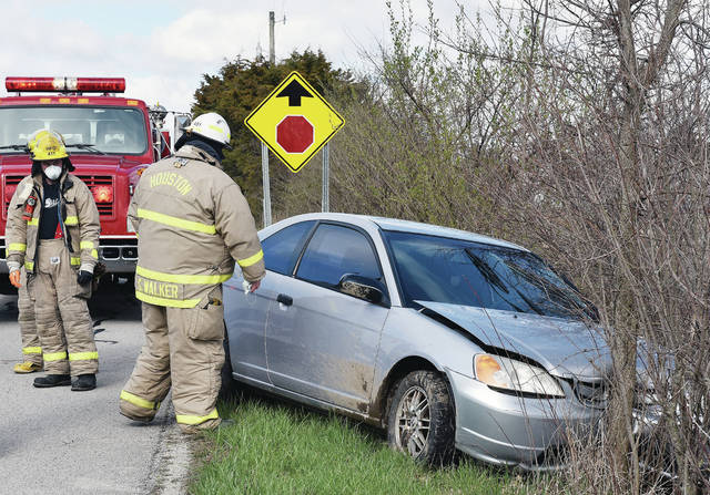 Houston firefighters responded to a one vehicle crash on the 4000 block of Stoker Road near Houston at 9:14 a.m. on Friday, April 10. The driver of the car is from Tipp City. They suffered a medical emergency which caused them to swerve off the road twice before leaving it a third time and crashing into a small tree. Houston Rescue transported the man to a hospital. The Shelby County Sheriff's Office is investigating.