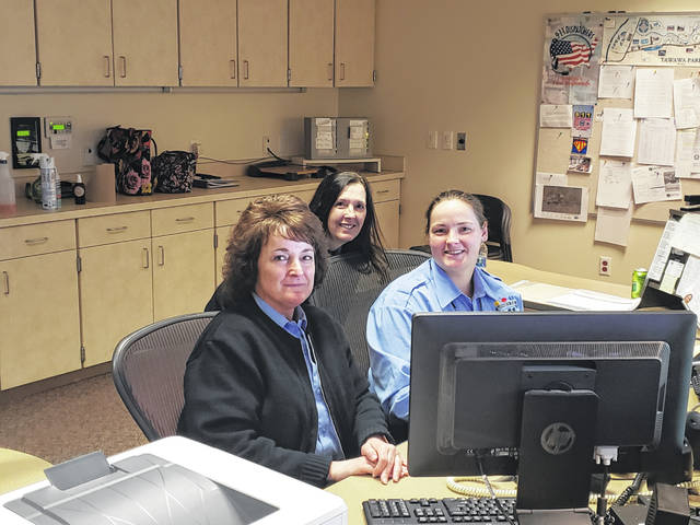 Susie Toller, Pam Goins and Stephanie Wise are all telecommunicators with the Sidney Police Department.Other telecommunicators with the department are Melissa Lange, Kiarra Ibarra, Abby Goins, Kristina McCall, Pae Cathcart, Stacy Smith, Renee McDowell amd Scott Hoelsher.