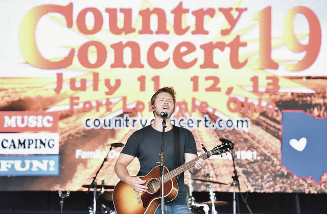 Jameson Rodgers performs on the Saloon Stage at Country Concert 2019.