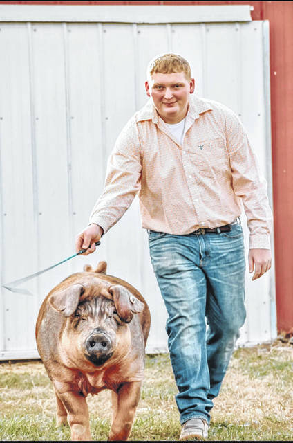 Dustin Turner is a senior at Fairlawn High and Upper Valley Carerer Center, where he is studying Welding, He enjoys raising show pigs.