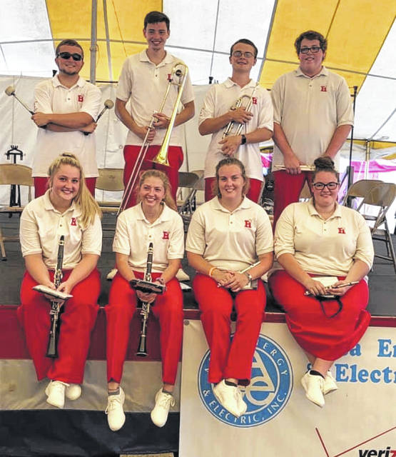 Houston High School seniors band members at the Shelby County Fair.