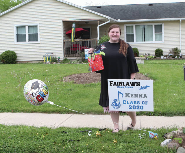 Kenna Knight, a Fairlawn senior, was presented with the Top Soprano award for 2020 during the Fairlawn Music Boosters for the senior chorus congratulations drive on Sunday, May 17.