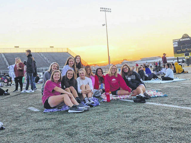 Sidney High School senior sunrise on the first day of the 2019-20 school year.