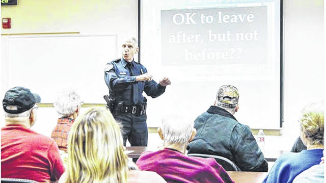 An active shooter seminar is presented at the Sidney Police Department by Mike McRill, formerly Sidney Police's community resources officer, and now is the Sidney Addiction Assistance Team coordinator. Active shooter classes are one of Sidney Police's numerous programs offered to the community.