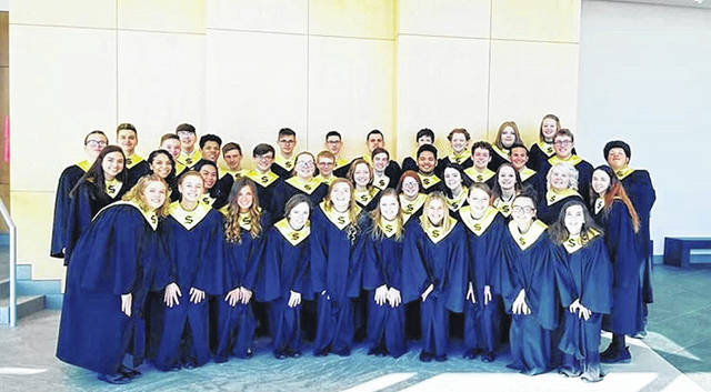 This picture was taken right after symphonic choir received all ones at OMEA. Being able to get all ones at my last OMEA performance made me so proud.