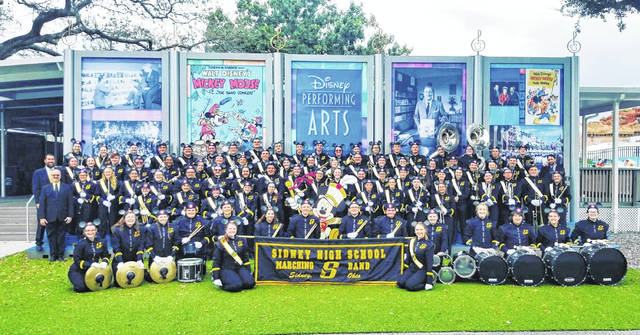 Sidney High School marching band at Disney World