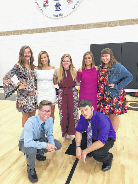 Pictured are, back row, Elizabeth Hickey, Cierra Jones, Bailey Boss, Faith Butler and Rachel Sailor, and front row, Cameron Ganger and Austin Allenbaugh