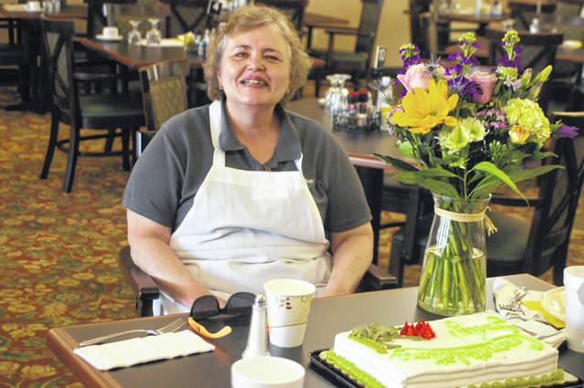 Judy Depinet, the supervisor for Ohio Living Dorothy Love's morning shift of cooks, is retiring after almost 35 years at the retirement community.