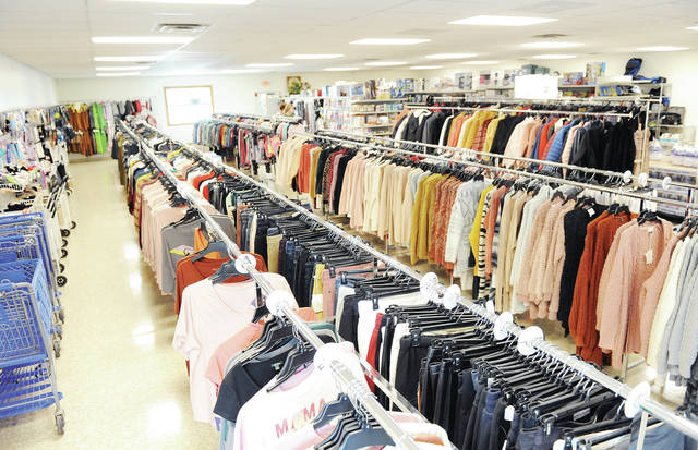 A large selection of clothing on display at Twisted Discounts located at 1319 Fourth Ave., Sidney.