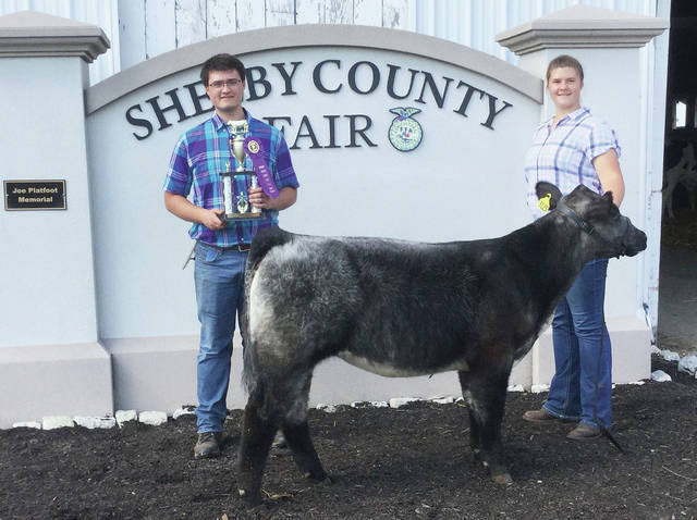 Aiden Brautigam won Grand Champion Beef Feeder at the 2020 Shelby County Fair.
