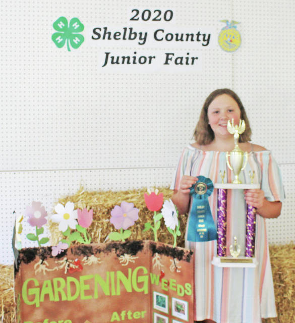 Amanda Roush won first place, Outstanding of the Day - How Does Your Garden Grow at the 2020 Shelby County Fair.