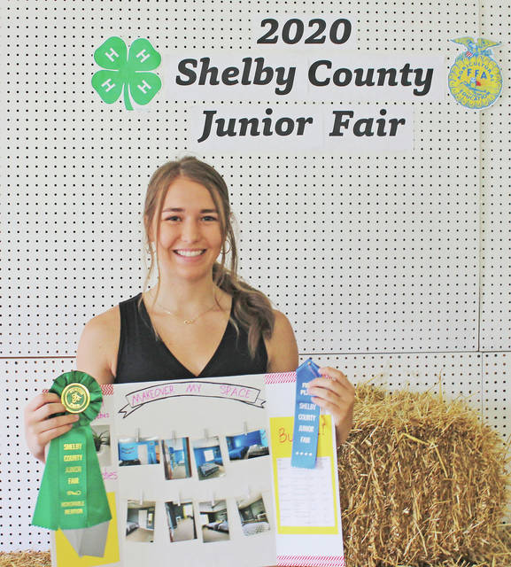 Emily Holthaus won first place, Honorable Mention - Makeover my Space Sr. at the 2020 Shelby County Fair.