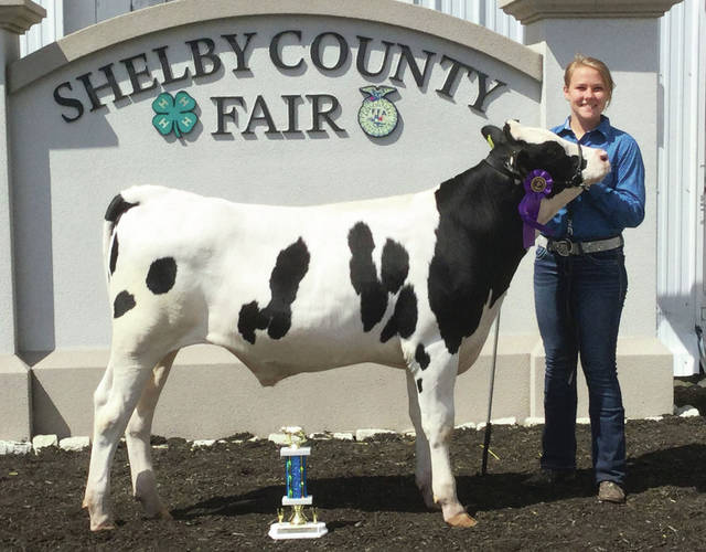 Michaela Ambos won Grand Champion Dairy Feeder at the 2020 Shelby County Fair.