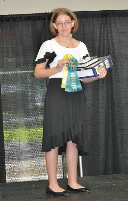 Rayna Huddleston won Overall Best Construction and Outstanding of the Day Clothing Project at the 2020 Shelby County Fair.