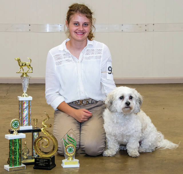 Addison Brewer, 18, of Anna, daughter of Nyky and Ryan Brewer, and her Shih Tzu mix, Oscar, placed first in Senior B Showmanship, Best Overall in Showmanship, first place Senior Dog Poster, and first place Senior You & Your dog. She is a member of Paw Prints 4-H.