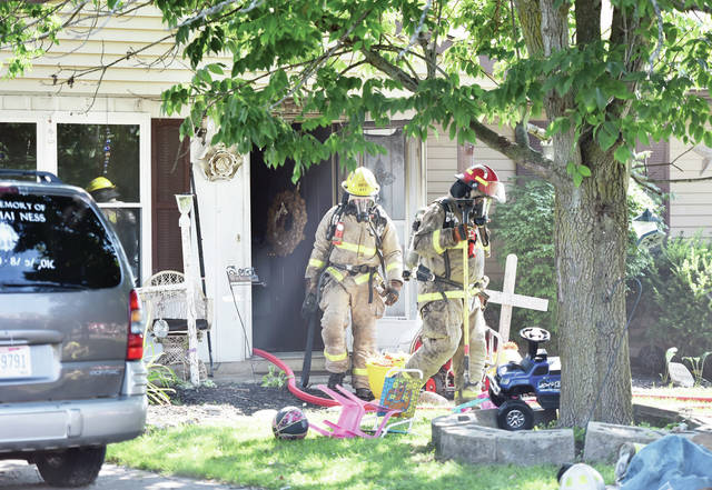 A fire initially reported as being in a household appliance spread but was quickly knocked down in a house at 3303 Chief Tarkee Court. Responding to the fire were firefighters from Houston, Sidney, Lockington and Port Jefferson.