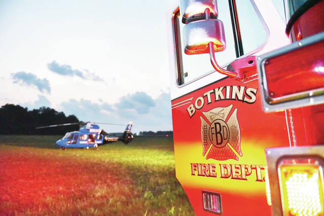 The Botkins Fire Department and Careflight responded to a one vehicle crash on the 17000 block of Wenger Road around 8 p.m. on Monday, Aug. 24. A woman in her 60's with a preexisting condition  passed away after her car crashed into a cornfield. Careflight was called but the woman passed away before she could be loaded onto the helicopter. The Shelby County Sheriff's Office is investigating.