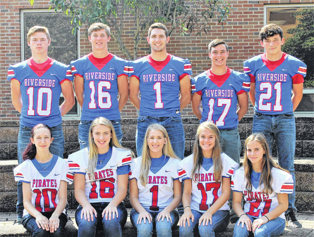 Members of the Riverside High School 2020 homecoming court are back row, left to right, Kyle Robinson, Landon Stewart, Kale Long, Simon Godwin and Nate Copas; an front row, Andrea Burden, Jenna Woods, Sierra Snow, Rachel Knight and Kaitlyn Schlumbohm.